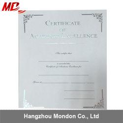 Certificats d'argenté avec couvercle papier gaufré de certificats