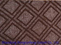 Tapijt van de Vloer van de Jacquard van het Fluweel van de Kleur van de Polyester van 100% het niet Geweven Naald Geslagen Dubbele
