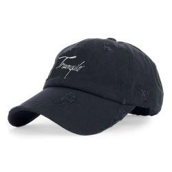 Plain angustiados lavado desgastado Papá Hat Gorras personalizadas