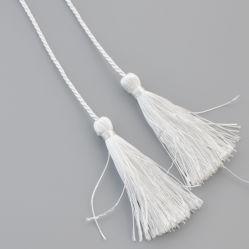 Großhandelsform-Polyester-weiße Zeichenkette-Troddel für Kleid