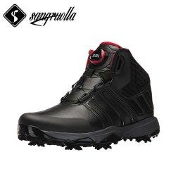 Производители обуви для гольфа с натуральной кожи и быстрая шнуровка и водонепроницаемый Sock технологии +TPU+резиновые+EVA+подвижной из термопластичного полиуретана с остроконечными зубьями