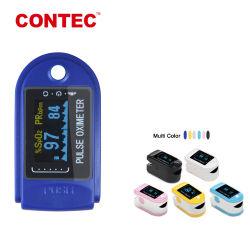 """Contec Fabricant CMS50d approuvé par la FDA 0.96"""" Dual-Color OLED oxymètre de pouls de doigt pour adulte"""