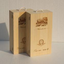 Boîte d'emballage en bois pour 6 bouteilles de vin en bois Tottles & boîte 2 Boîte cadeau en bois pour bouteilles de vin
