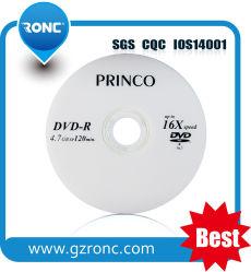 Venda por grosso 4,7GB 16X 120min DVD virgem com o preço fob