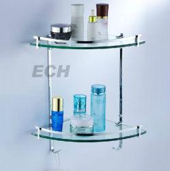 ステンレススチール製およびガラス製コーナーシェルフ( GHT6021 )