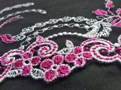 Alta Qualidade Flor Terra Bordados Mesh Lace tecido de seda Real para acessórios de vestuário