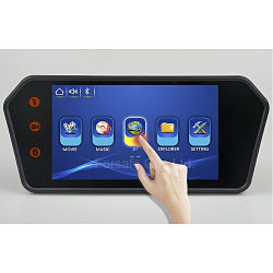 Usine de 7 pouces moniteur de rétroviseur de voiture Bluetooth MP5 1080P de la sécurité de parking arrière