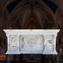 Una Iglesia altar tallado en mármol blanco natural