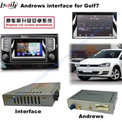 VW Golf7 Video-interface voor in de auto (2AV-ingang + android+Bluetooth+Mirror Link + camera-ingang voor/achter)
