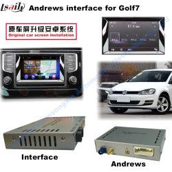 VW Golf7 Interface vidéo pour voiture (2 entrée AV + android+Lien Bluetooth+miroir + entrée de caméra avant/arrière)