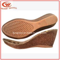 Клин пятки пробковая подошва для дам сандалии