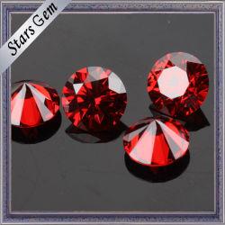 De gros de Wuzhou beau rouge grenat CZ Stone pour bijoux