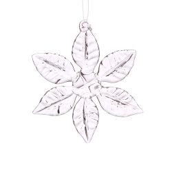 Vidro de Natal Pendente para decoração de Floco de Neve