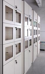 Armadio fenolico del portello trasparente per la farmacia/il Governo di memoria di HPL/armadio a prova d'umidità di Cdf