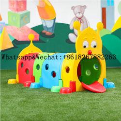 Jardim de Infância de plástico cor de diversas crianças brincam Tunnel crianças playground coberto de lagartas de equipamento Elf brinquedo túnel