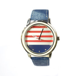 Horloge van de Manier van de Horloges van het Roestvrij staal van het Kwarts van de marine het Zwarte Bulk (cm19118)