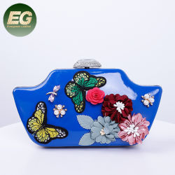 Fashion Lady Sacs à main en soirée les femmes d'embrayage SAC SAC avec broderie papillon EB1033
