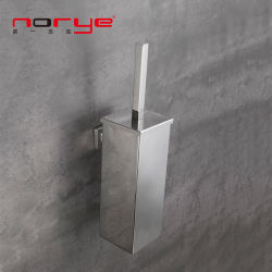 حامل فرشاة تنظيف المرحاض ملحقات الحمام من الفولاذ المقاوم للصدأ المركّب على الحائط