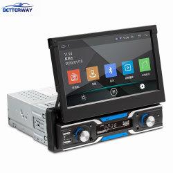 Betterway 1 DIN 7 дюйма складной сенсорный экран Car Audio Audio Player Android 9.1 Bluetooth MP5 стерео видео системы навигации GPS FM