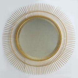 Kreativer Metalldekorativer Wand-Spiegel-runder hängender Spiegel-nach Hause Dekor