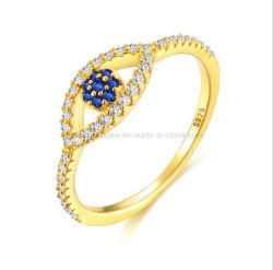 Mode bijoux 925 Sterling Silver ou en laiton Yeux Yeux diable Ring Bague Cube Bague Zircon pour les femmes