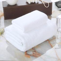 Commerce de gros 40*75cm 600gsm de couleur blanche à armure toile Serviette de toilette 100% coton