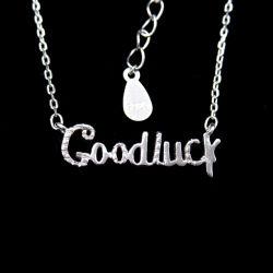 Reine silberne gutes Glück-Zeichen-Wünsche-Halskette zum Geschenk des Freunds