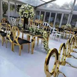 أثاث حديث كلاسيكى وايت Event Metal Hotel Hall Chiavari Tiffany كرسي الولائم لحفلات الزفاف، مطعم ذهبي، مقاعد طاولة لتناول الطعام