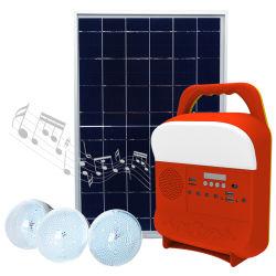 نظام مجموعات صغيرة محمولة بقدرة 10 واط صغيرة ومحمولة في الخارج بقدرة 3 in1 مع نظام الطاقة الشمسية لراديو FM ومكبر صوت Bluetooth