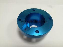 Kundenspezifische Präzisionsblau Eloxiertes Aluminium Al6063-T651 CNC Gefräster Flansch für Maschinen (S-248)
