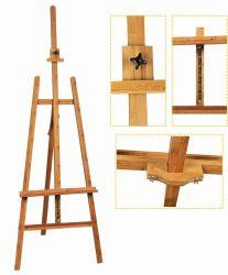 Ajustable de bambú de caballete de pintura del artista