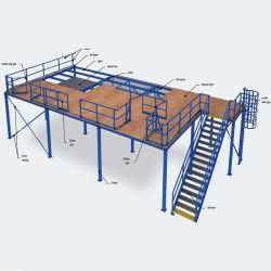 Plate-forme d'acier multi niveau sur le fil Racks de stockage