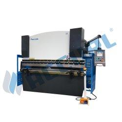 Placa de metal com máquina de dobragem hidráulica Delem DA52S