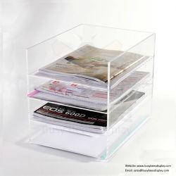 Le magazine en acrylique transparent de bureau étagère de stockage / Dossier de fichiers Le bac de Fujian, de la Chine
