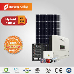 Гибридная система инвертора 10 квт дома солнечные фотоэлектрические системы установки