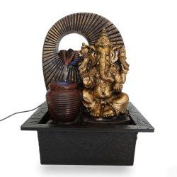 Indoor Polyresin Statue Ganesh dieu hindou Fontaine à eau