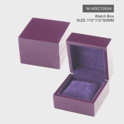 新しいデザイン贅沢か高品質または正方形の木かペーパーまたはプラスチックまたは革またはビロードの工場宝石類の腕時計の装飾的な香水のギフトの包装の一定の収納箱Wholesale.Purple