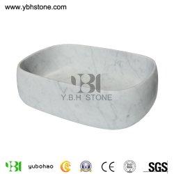 Naturel du bassin de lavage/Bianco Carrara évier en pierre blanche pour salle de bains