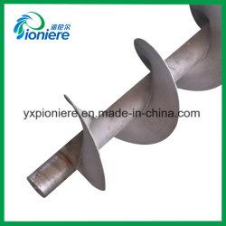 ネジ式沈積物排水装置の排水処理のためのSS304螺線形シャフト