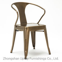 Venda a quente da estrutura de ferro de aço cadeira de metal de Jantar Vintage