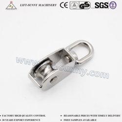 Alliage de zinc moulé sous pression poulie simple/double avec roue en nylon/acier