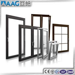 نوافذ منزلقة مزدوجة الزجاج من الألومنيوم/الألومنيوم