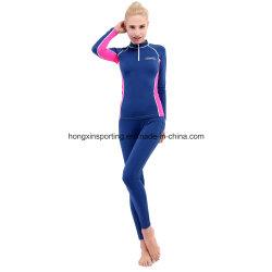 Dos piezas de Lycra Rash Guard, trajes de baño, ropa deportiva, el desgaste de Yoga
