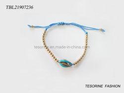 Shell elegante Pupolar Abalone cordões bracelete bracelete de férias