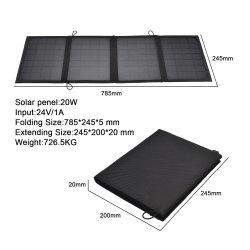 faltbarer Sonnenkollektor 20W USB-bewegliche Handy-Autobatterie, die Solaraufladeeinheits-Qualität faltet