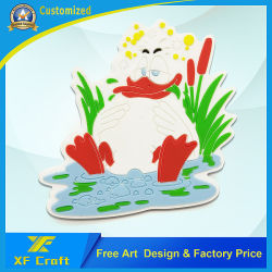 مغناطيس ثلاجة مطاط بلاستيكي ناعم ومخصص رخيص للهدايا التذكارية (XF-FM04)