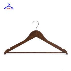 De Mensen van het mahonie hijgt Houten Hangers met de Antislip RubberStaaf van Tanden