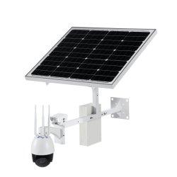 De zonne Aangedreven 2MP 4G Draadloze WiFi OpenluchtCamera van kabeltelevisie IP PTZ met het Micro- BR van de Steun 128GB Verre Bekijken van de Kaart