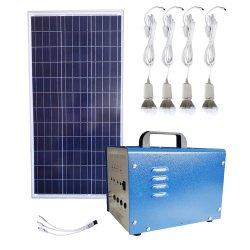 20W de energía del Panel de Energía Solar Fotovoltaica Inicio Kits de iluminación LED de alimentación DC de UPS Portátiles sistema Suppy