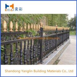 Diseño clásico chino Villa/casa/jardín de aluminio de seguridad lanza baranda metálica superior/ valla de aluminio